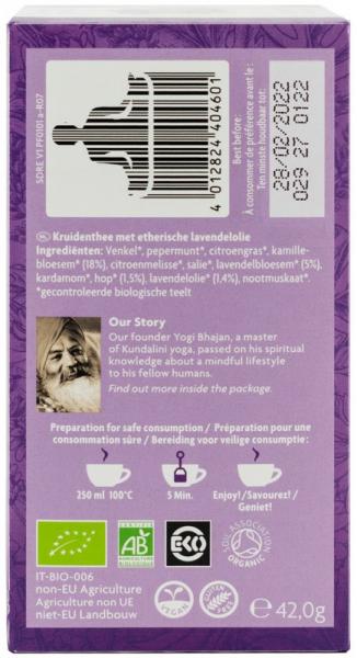 Ceai Cu Ulei Esential, Noapte Buna, Bio 42G Yogi Tea [1]