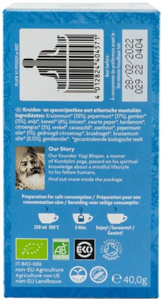 Ceai Cu Ulei Esential, Prospetime Pura, Bio 40G Yogi Tea [1]