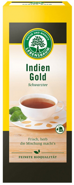 Ceai negru BIO Indian Gold, 40g LEBENSBAUM [0]