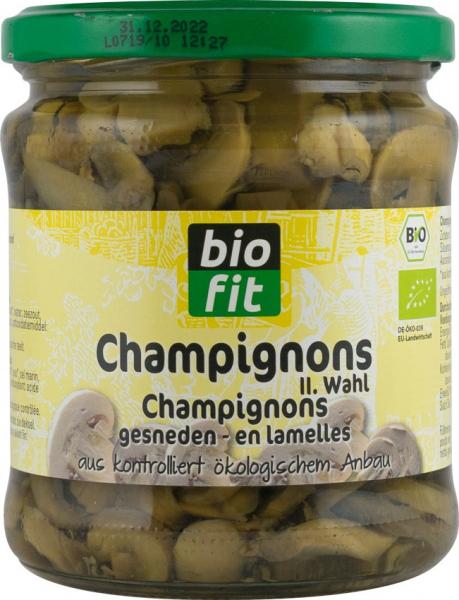 Champignons taiate BIO, 330gr/170gr Bio Fit [0]