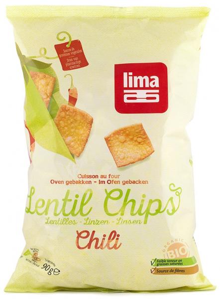Chipsuri Bio din linte cu chilli, 90g LIMA [0]