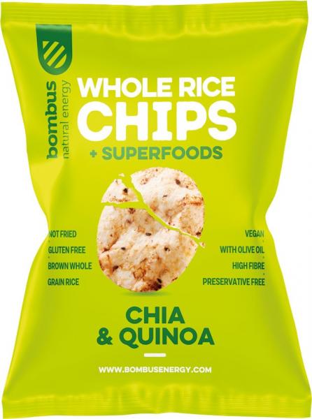 Chipsuri de orez cu chia si quinoa 60 g Bombus [0]