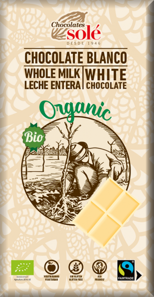 Ciocolata alba BIO, 100 g Chocolates Sole [0]