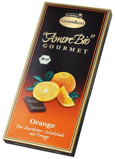 Ciocolata amaruie cu portocale, 55% cacao, 100 g LIEBHART'S AMORE BIO [0]