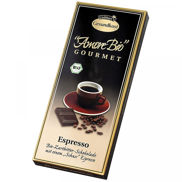 Ciocolata amaruie Espresso, 55% cacao, 100 g LIEBHART'S AMORE BIO [0]