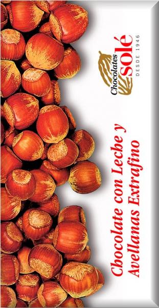 ciocolata cu lapte si alune de padure 30% cacao, 150g Chocolates Sole [0]