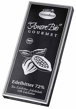 Ciocolata neagra, 72% cacao, 100 g LIEBHART'S AMORE BIO [0]