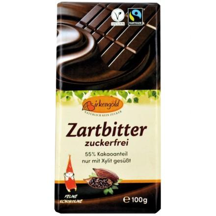 Ciocolata neagra indulcita doar cu xylitol 55% cacao, 100g Birkengold [0]