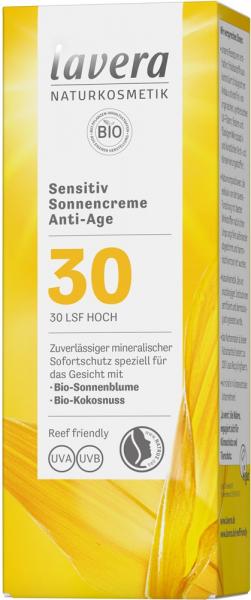 Crema Bio Sensivite Anti Ageing Cu Protectie Solara Lsf 30, 50Ml Lavera [1]