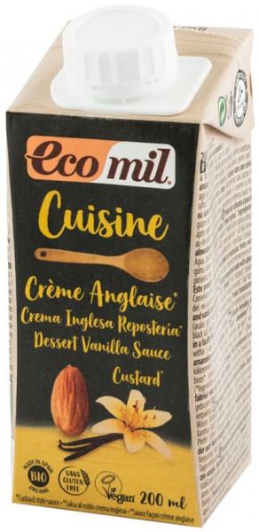 Crema vegetala bio din migdale si vanilie, pentru gatit, 200 ml ECOMIL CUISINE [0]