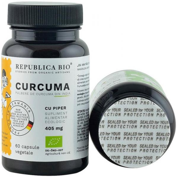 Curcuma bio (Turmeric) din India (405 mg), 60 capsule (30 g) [4]
