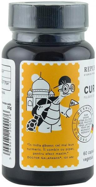Curcuma bio (Turmeric) din India (405 mg), 60 capsule (30 g) [1]