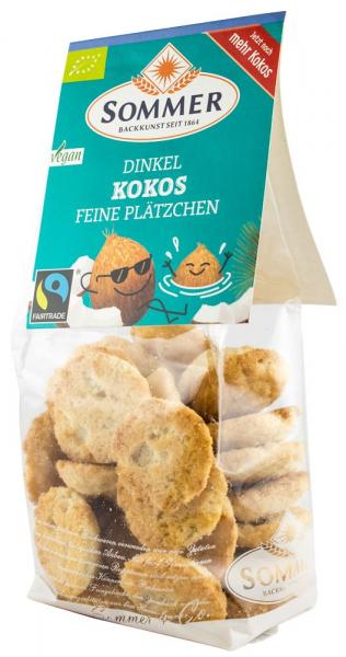 Dinkel Kokos - mini fursecuri bio din grau spelta cu cocos, Fairtrade, 150 g SOMMER [0]