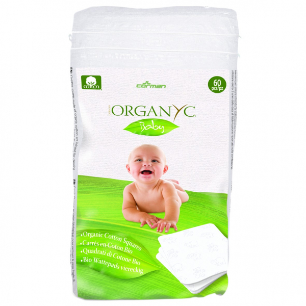 Dischete  patrate Baby din bumbac organic 60 buc Organyc [0]