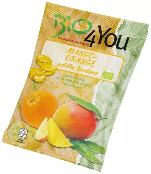 Dropsuri bio cu mango si portocale 75gr Bio 4 You [0]