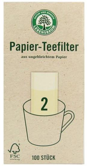 Filtre pentru ceai, Gr. 2, 100 bucati LEBENSBAUM [0]