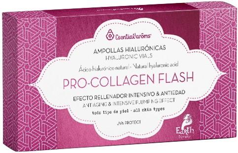 Fiole cu acid hialuronic natural, Pro Collagen Flash, antiaging, 7 x 1.5 ml Esential'arôms [0]