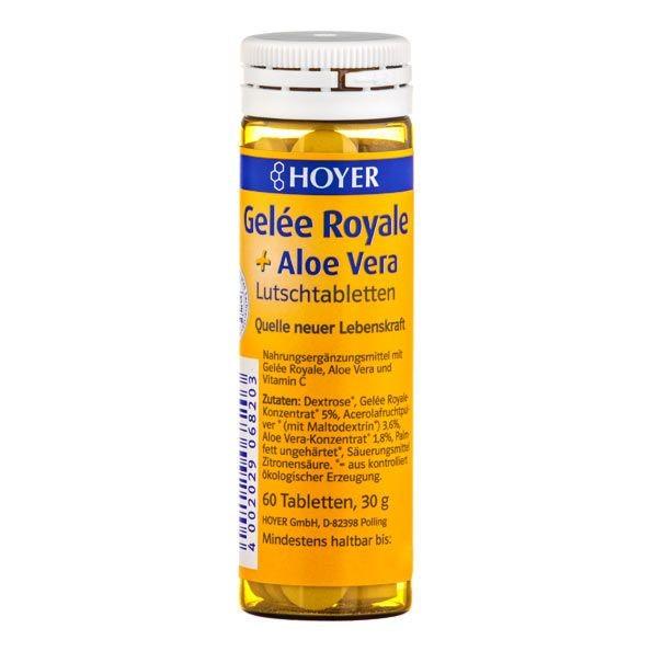 Gelee Royale + Aloe vera -  Tabelete masticabile Bio, 60 tb Hoyer [0]