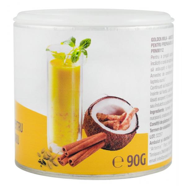 Golden Milk, Amestec De Condimente Pentru Prepararea Laptelui Auriu, 90G [1]