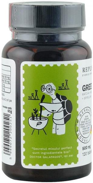 Green Detox (500 mg) supliment alimentar bio, 120 tablete (60 g) [1]