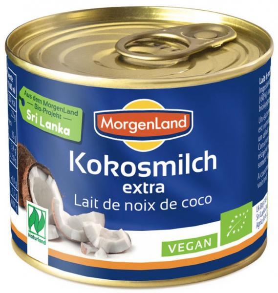 Lapte de cocos BIO extra, 200 ml MORGENLAND [0]