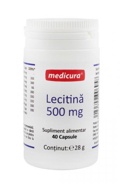 Lecitina 500 mg, 40 capsule Medicura [0]