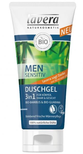 MEN Sensitiv - Gel de dus 3 in 1, 200 ml Lavera [0]