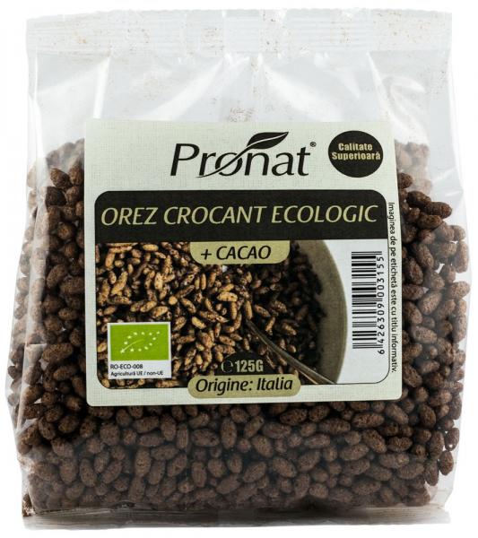 Orez expandat crocant cu cacao, bio 125 g [0]