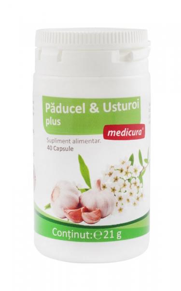 Paducel & Usturoi Plus, 40 capsule Medicura [0]