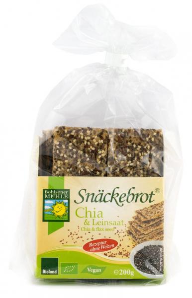 Paine Bio crocanta cu chia si seminte de in, 200g Bohlsener Muhle [0]