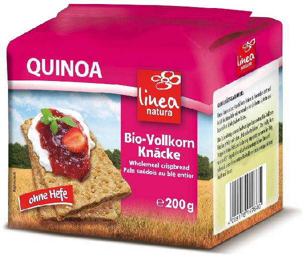 Paine BIO crocanta din faina integrala de Quinoa, 200g Linea Natura [0]