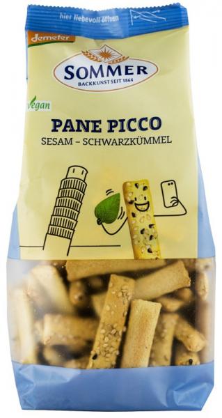 Panne Picco - mini grisine bio cu susan si chimen negru, Demeter 150 g SOMMER [0]