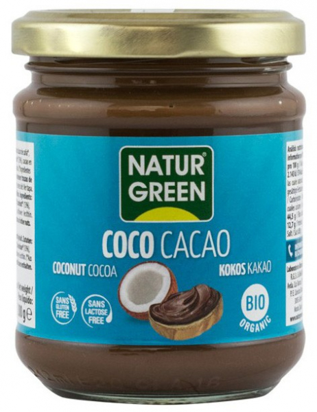 PASTA BIO DE COCOS CU CACAO, 200G NATUR GREEN [0]