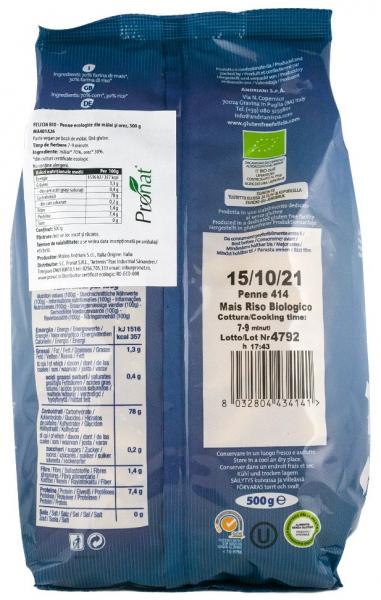 Penne BIO din malai si orez, 500 g Felicia [1]