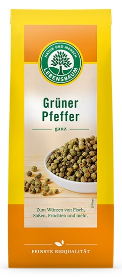 Piper verde BIO boabe, 35 g LEBENSBAUM [0]