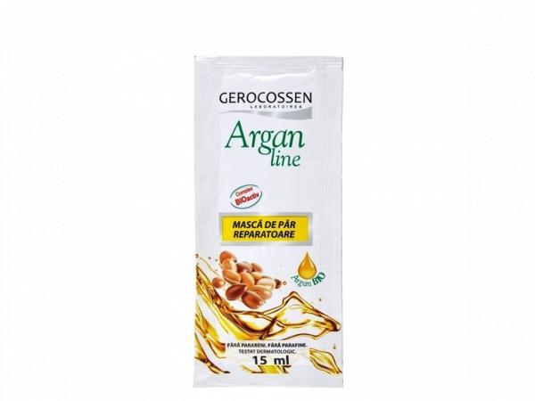 Pliculet cu masca pentru par uscat si deshidratat Argan Line 15 ml: 50 buc + 10 buc CADOU [0]