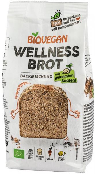 Premix bio pentru paine Wellness, fara gluten, 320g Biovegan [0]