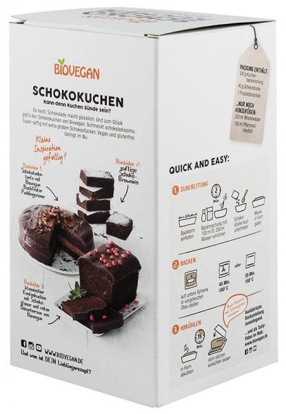 Premix bio pentru prajitura cu ciocolata, 380g Biovegan [2]