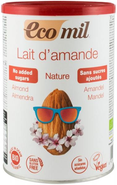 Pudra bio instant pentru bautura de migdale natur, 400 G Ecomil [0]