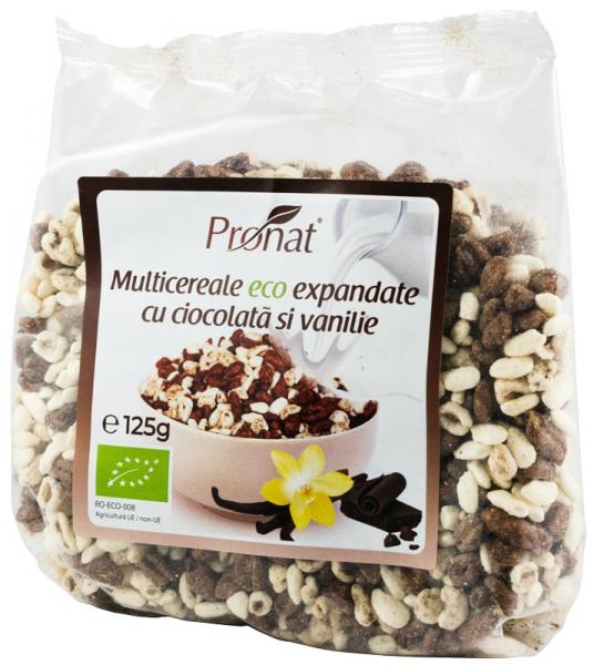 Pufarine Bio Din Multicereale Cu Ciocolata Si Vanilie, 125G [0]