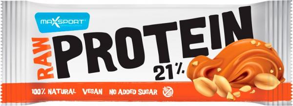 Raw Protein 21% Baton Proteic Cu Alune Si Sare Vulcanica, 50G Max Sport [0]
