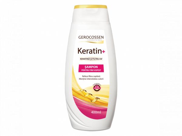 Sampon pentru par vopsit cu keratina si filtru UV - Keratin+ 400 ml [0]