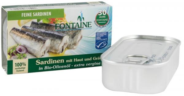 Sardine In Ulei De Masline Extravirgin, 120G Fontaine [0]