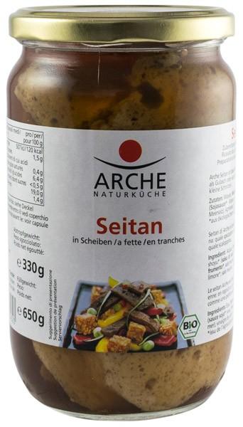 Seitan BIO felii, 650g/330g Arche Naturkuche [0]