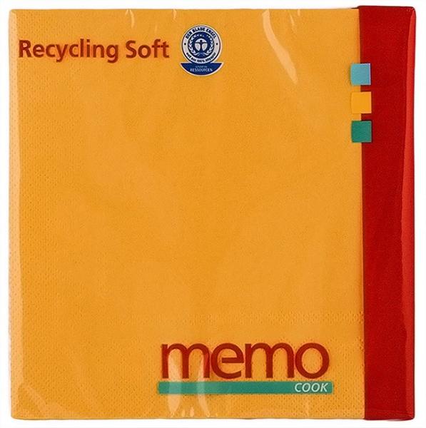 Servetele soft din hartie reciclata cu 3 straturi, 20 buc Memo [0]