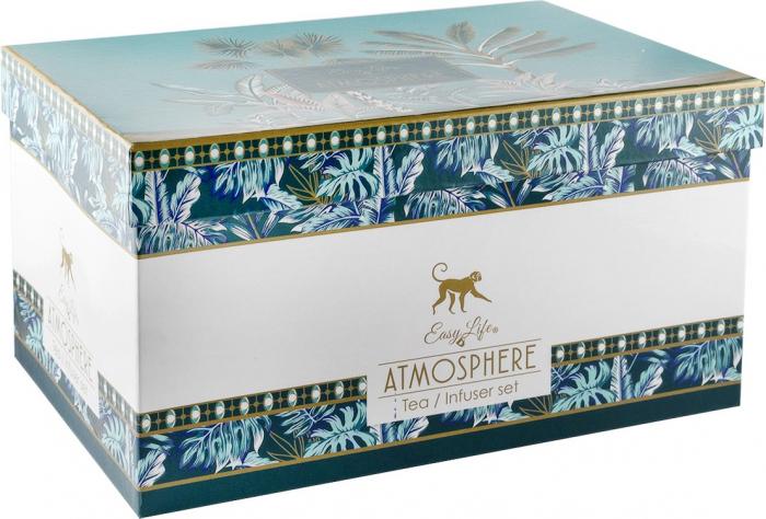 Set de ceai din portelan Atmosphere - un ceainic si doua cescute in cutie cadou [1]