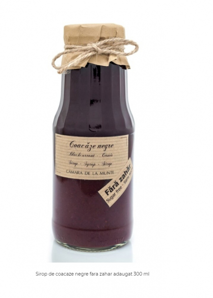 Sirop de coacaze negre fara zahar adaugat 300 ml [0]