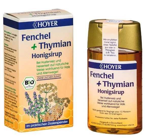 Sirop de tuse cu miere cu  fenicul si cimbru 250g Hoyer [0]