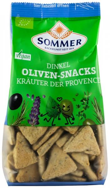 Snack bio din faina de grau spelta cu masline si ierburi de Provence, 150 g SOMMER [0]