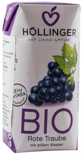 Suc de struguri rosii Bio cu pai Hollinger, 200 ml HOLLINGER [0]